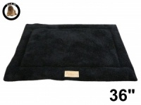 Ellie-Bo Black Sherpa Fleece Cage Mat to fit Ellie-Bo 36 inch Dog Cage