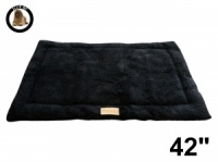 Ellie-Bo Black Sherpa Fleece Cage Mat to fit Ellie-Bo 42 inch Dog Cage