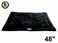 Ellie-Bo Black Sherpa Fleece Cage Mat to fit Ellie-Bo 48 inch Dog Cage