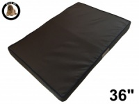 Ellie-Bo Large Brown Memory Foam Waterproof Dog Bed to fit 36 inch Dog Cage