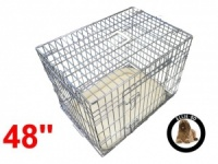 48 Inch Ellie-Bo Deluxe XXL Dog Cage in Silver