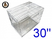 30 Inch Ellie-Bo Standard Medium Dog Cage in Silver
